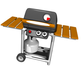 gas grill open close detail hr
