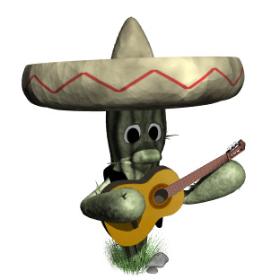 cactus playing guitar hr