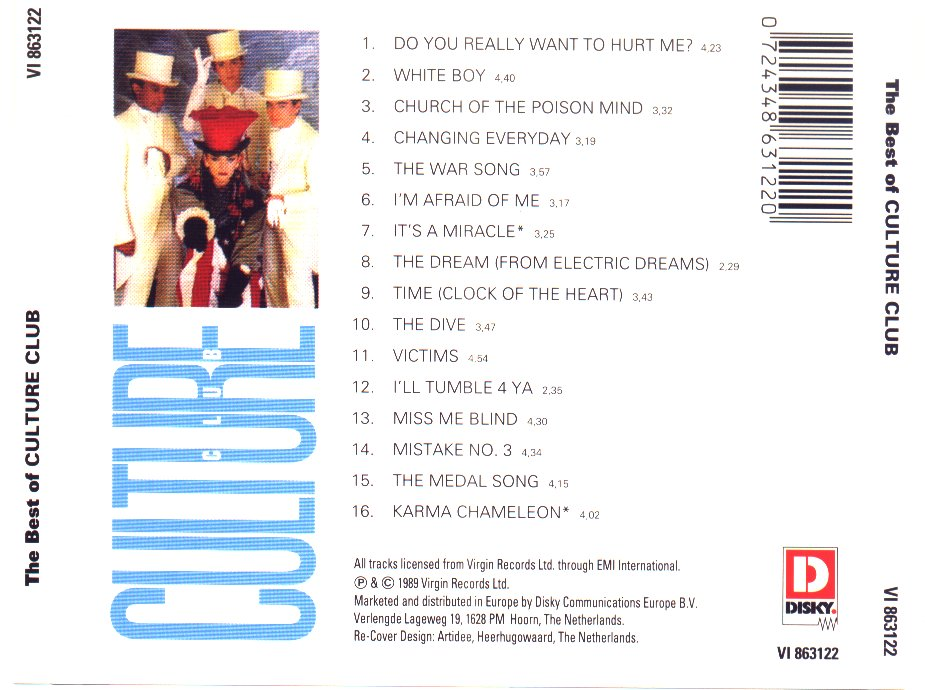 culture club the best of culture club-back